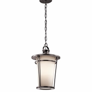 Kichler 49448AZ Belmez Architectural Bronze Finish 11  Wide Outdoor Mini Ceiling Light Pendant