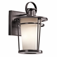 Kichler 49454AZ Belmez Architectural Bronze Finish 10.75  Tall Exterior Wall Light Sconce
