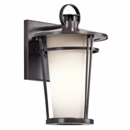 Kichler 49455AZ Belmez Architectural Bronze Finish 9  Wide Outdoor Wall Sconce Light
