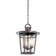 Kichler 49458AZ Belmez Architectural Bronze Finish 18.5  Wide Outdoor Ceiling Pendant Light