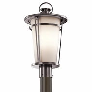 Kichler 49459AZ Belmez Architectural Bronze Finish 19.5  Tall Exterior Post Lamp
