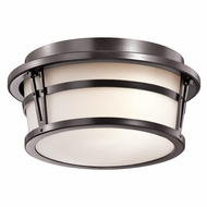 Kichler 49460AZ Belmez Architectural Bronze Finish 11  Wide Outdoor Ceiling Light Fixture