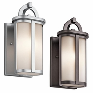 Kichler 49467 Rivera 10.25  Tall Halogen Exterior Wall Lamp
