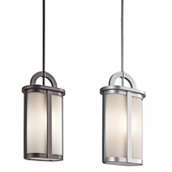 Kichler 49472 Rivera 5.5  Wide Outdoor Mini Drop Ceiling Light Fixture