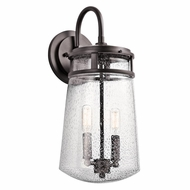 Kichler 49496AZ Lyndon Retro Architectural Bronze Finish 8  Wide Outdoor Wall Light Sconce