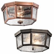 Kichler 49518 Rochdale Traditional 6  Tall Exterior Flush Lighting