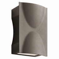 Kichler 49519AZTLED Brive Modern Textured Architectural Bronze LED Outdoor Wall Light Sconce