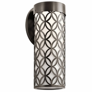Kichler 49521AZTLED Cidney Contemporary Textured Architectural Bronze LED Exterior Medium Wall Sconce Light