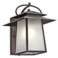 Kichler 49531WZC Woodland Lake Craftsman Weathered Zinc Finish 16.75  Tall Exterior Wall Sconce Light