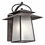 Kichler 49533WZC Woodland Lake Craftsman Weathered Zinc Finish 23  Tall Exterior Wall Lamp
