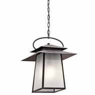 Kichler 49535WZC Woodland Lake Craftsman Weathered Zinc Finish 19.5  Tall Exterior Pendant Light