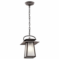 Kichler 49536WZC Woodland Lake Craftsman Weathered Zinc Finish 9.25  Wide Outdoor Mini Lighting Pendant