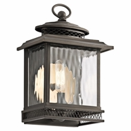 Kichler 49540OZ Pettiford Traditional Olde Bronze Finish 10.5  Tall Exterior Wall Sconce Light