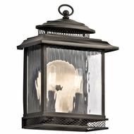Kichler 49541OZ Pettiford Traditional Olde Bronze Finish 10.75  Wide Outdoor Wall Sconce