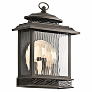 Kichler 49542OZ Pettiford Traditional Olde Bronze Finish 15.75  Tall Exterior Wall Lamp