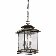 Kichler 49544OZ Pettiford Traditional Olde Bronze Finish 16.5  Tall Exterior Mini Pendant Light