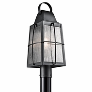 Kichler 49555BKT Tolerand Traditional Textured Black Finish 21.75  Tall Exterior Post Light