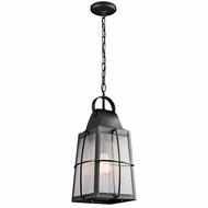 Kichler 49556BKT Tolerand Traditional Textured Black Finish 9.5  Wide Outdoor Mini Lighting Pendant