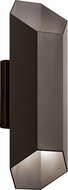 Kichler 49608AZTLED Estella Contemporary Textured Architectural Bronze LED Exterior Wall Light Sconce
