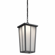Kichler 49626BKTLED Amber Valley Textured Black LED Exterior Hanging Light
