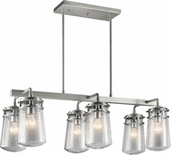 Kichler 49835BA Lyndon Contemporary Brushed Aluminum Outdoor Island Lighting