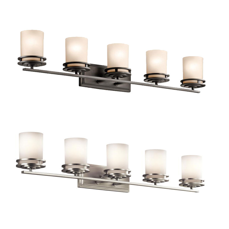 kichler 5085 hendrik 7 75 quot 5 light bathroom lighting fixture kic 5085