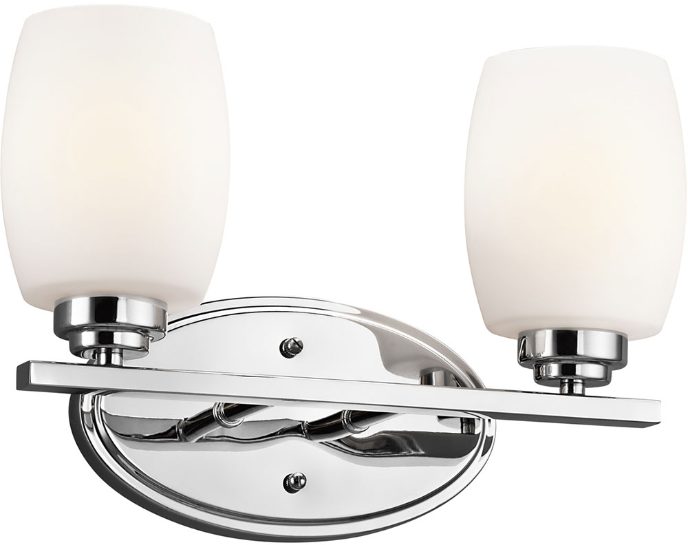 Kichler 5097CHL16 Eileen Contemporary Chrome LED 2-Light