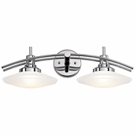 Kichler 6162CH Structures Contemporary Chrome Finish 7.5  Tall 2-Light Bath Lighting