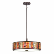 Kichler 65403 Shasteen Tiffany Olde Bronze Finish 21.75  Wide Pendant Lamp