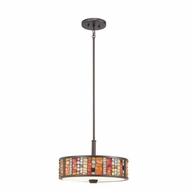 Kichler 65404 Shasteen Tiffany Olde Bronze Finish 10.5  Tall Hanging Lamp