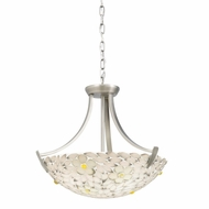 Kichler 65415 Dayzie Tiffany Antique Pewter Finish 20  Wide Hanging Pendant Light