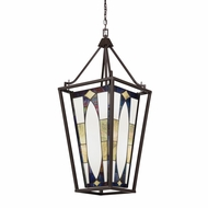 Kichler 65421 Denman Tiffany Olde Bronze Finish 16  Wide Foyer Hanging Light Fixture