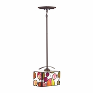 Kichler 65424 Berkley Tiffany Mission Bronze Finish 8  Tall Mini Drop Lighting