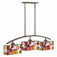Kichler 65425 Berkley Tiffany Mission Bronze Finish 4.75  Wide Kitchen Island Lighting