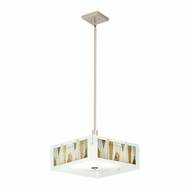 Kichler 65434 Khione Tiffany Brushed Nickel Finish 18.75  Wide Drop Ceiling Lighting