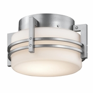 Kichler 9557PL Rivera Modern Platinum Finish 10.5  Wide Exterior Flush Mount Light Fixture