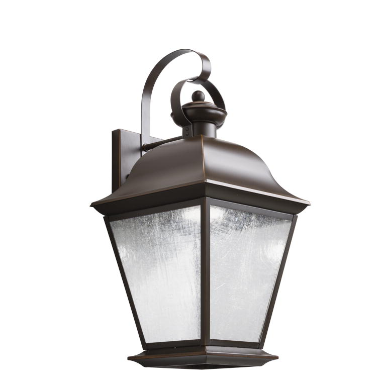 Kichler 9709OZLED Mount Vernon Traditional Olde Bronze Finish 95 Wide LED Exterior Wall Light