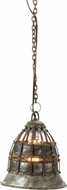 Lazy Susan 135003 Flared Fortress Traditional Distressed Silver Mini Pendant Lighting