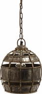 Lazy Susan 135008 Round Fortress Traditional Distressed Silver Mini Lighting Pendant