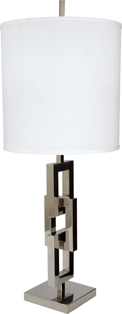 Contemporary Silver Table Lamps: Lazy Susan 225062 Chain Link Contemporary Silver Lighting Table Lamp.  Loading zoom,Lighting