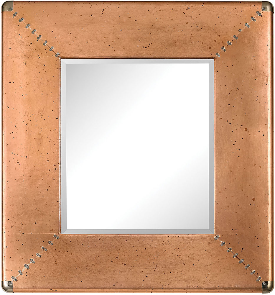 lazy susan 3100 007 contemporary copper copper frame mirror loading zoom