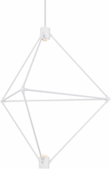 LBL CH947WHLEDWD Candora Contemporary White LED Ceiling Chandelier