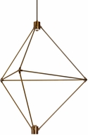 LBL CH948ABLEDWD Candora Modern Aged Brass LED Hanging Chandelier