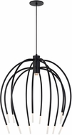 LBL CH950BLLEDWD Tallo Contemporary Black LED Chandelier Light
