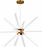 LBL CH996ABLED930 Photon Contemporary Aged Brass LED Chandelier Lighting