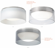 LBL FM869 Anella Modern Satin Nickel LED Ceiling Lighting Fixture