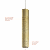 LBL HS884 Trista Modern Satin Nickel LED Low-Voltage Mini Hanging Lamp