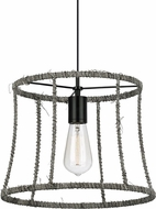 LBL LP817DUBL Linnet Modern Black Line Voltage Pendant Light Fixture