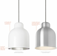 LBL LP844 Amphora Contemporary Mini Line-Voltage Hanging Pendant Light