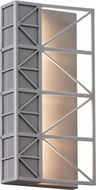LBL OD771ALLEDW East River Modern Brushed Aluminum LED Outdoor Wall Sconce